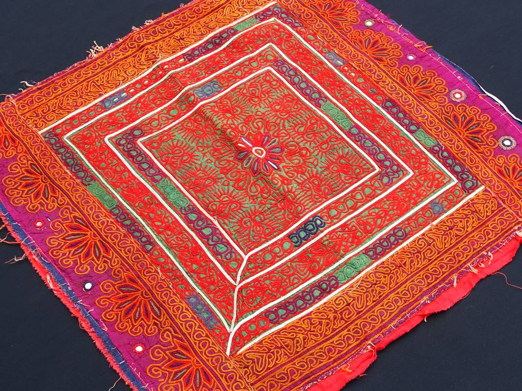 antique  Katawaz  silk embroidery  Tray cloth No:18/26