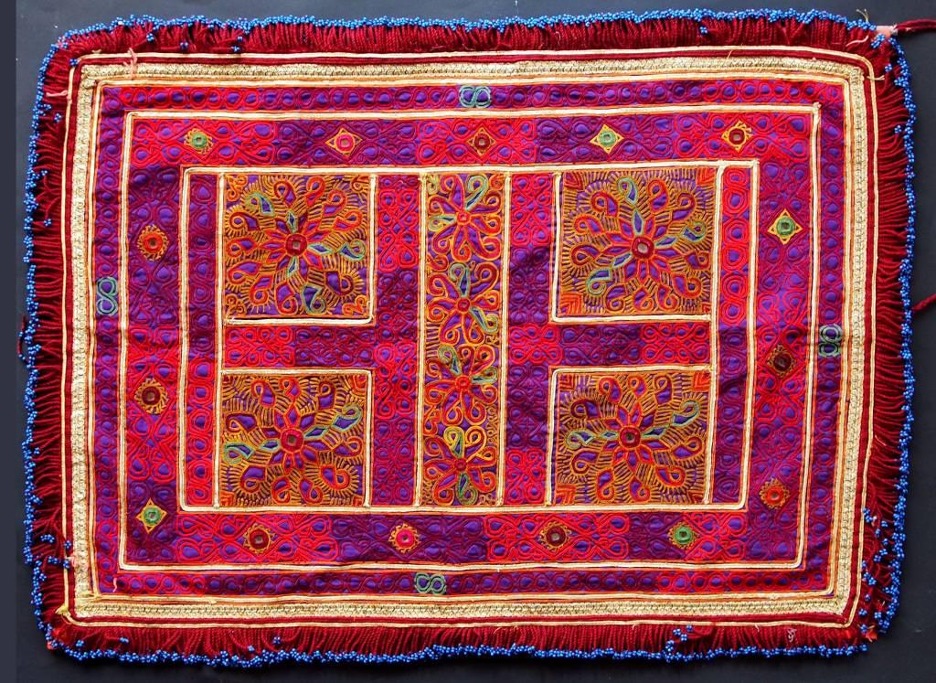 antique  Katawaz  silk embroidery  Tray cloth No:18/30