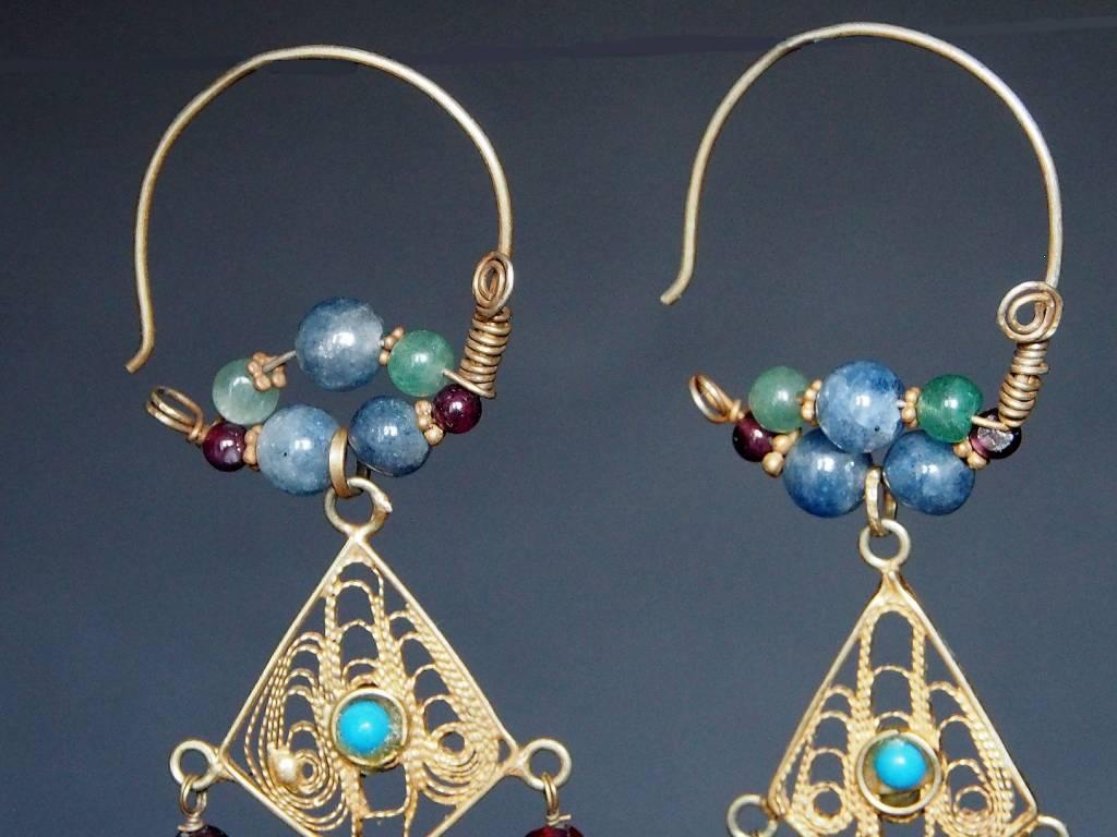 traditionelle Afghanische nomaden Vintage Ohrringe Nr:18/6