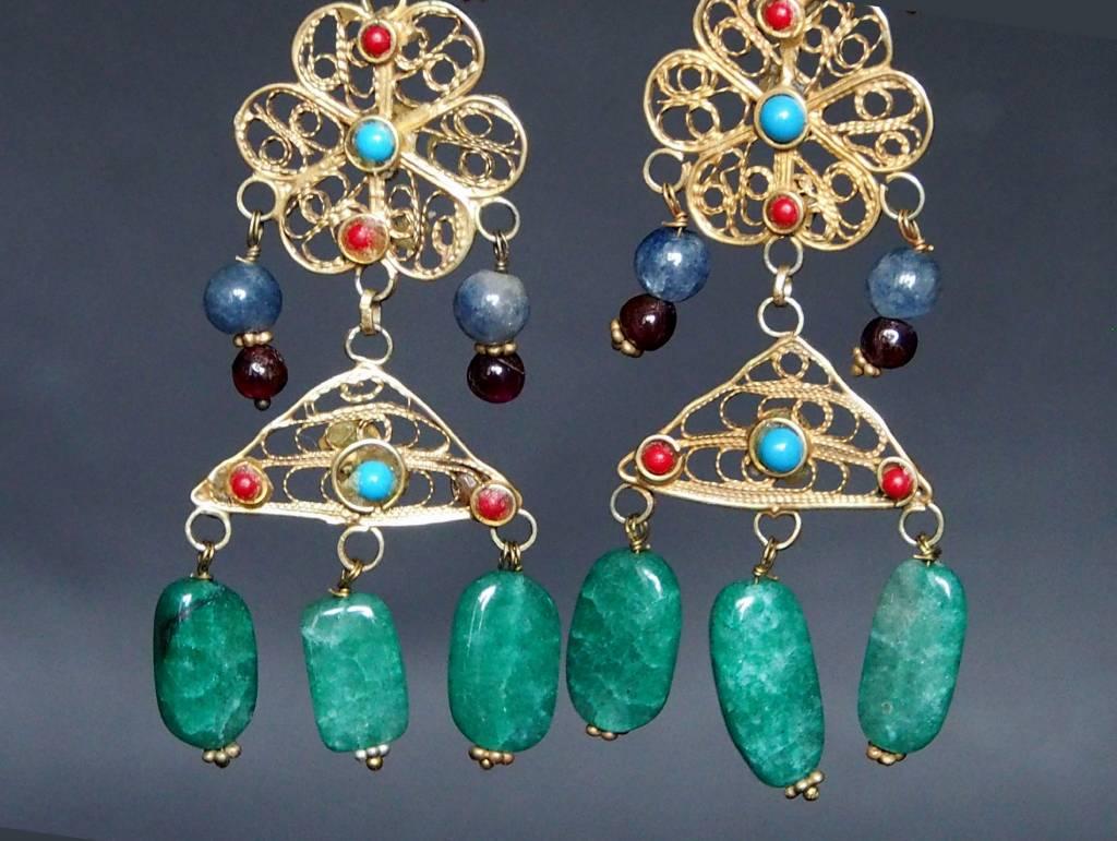 traditionelle Afghanische nomaden Vintage Ohrringe Nr:18/12