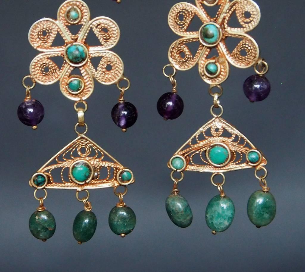 traditionelle Afghanische nomaden Vintage Ohrringe Nr:18/15