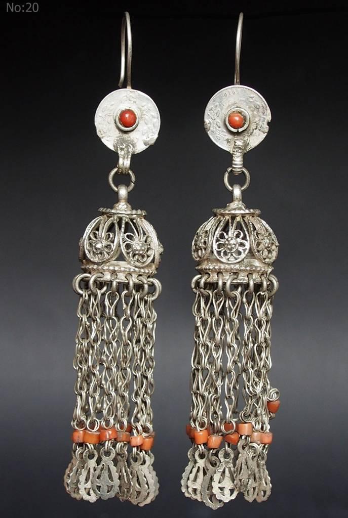 antik nomaden Silber Ohrringe Nr:18/ 20
