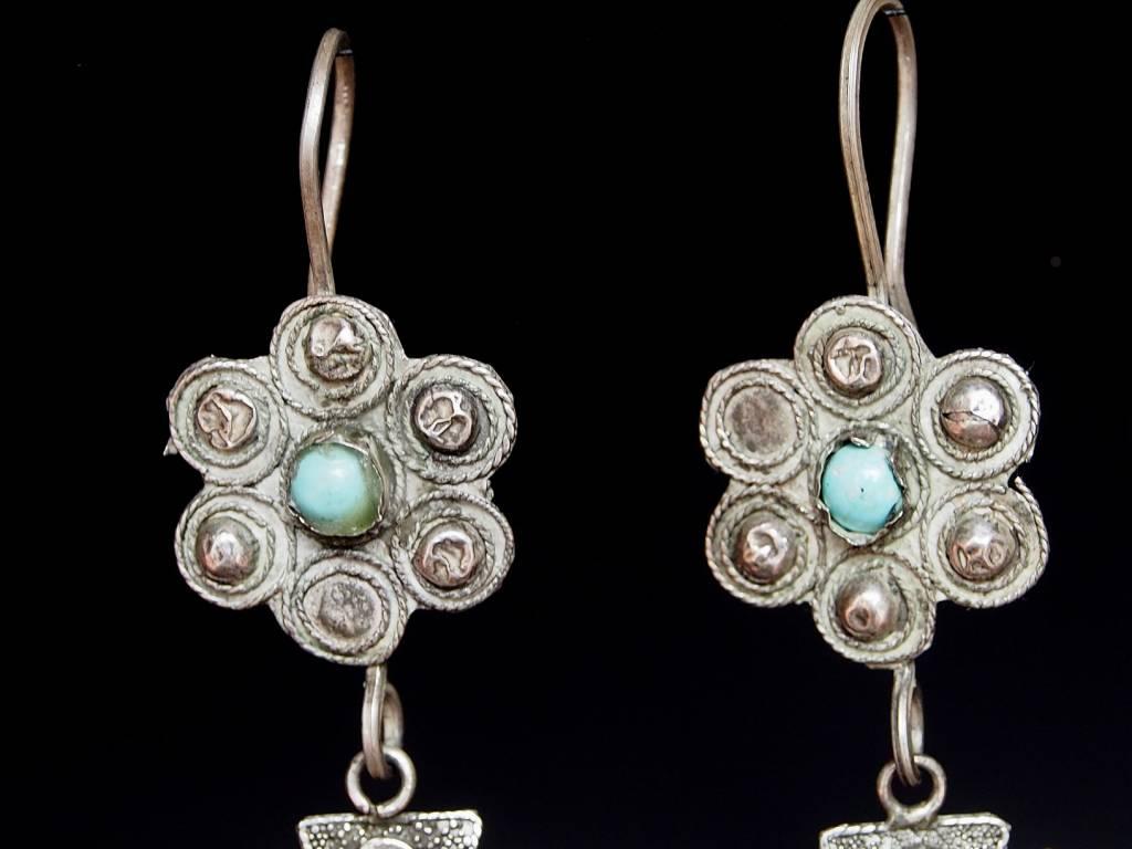antik nomaden Silber Ohrringe Nr:18/32
