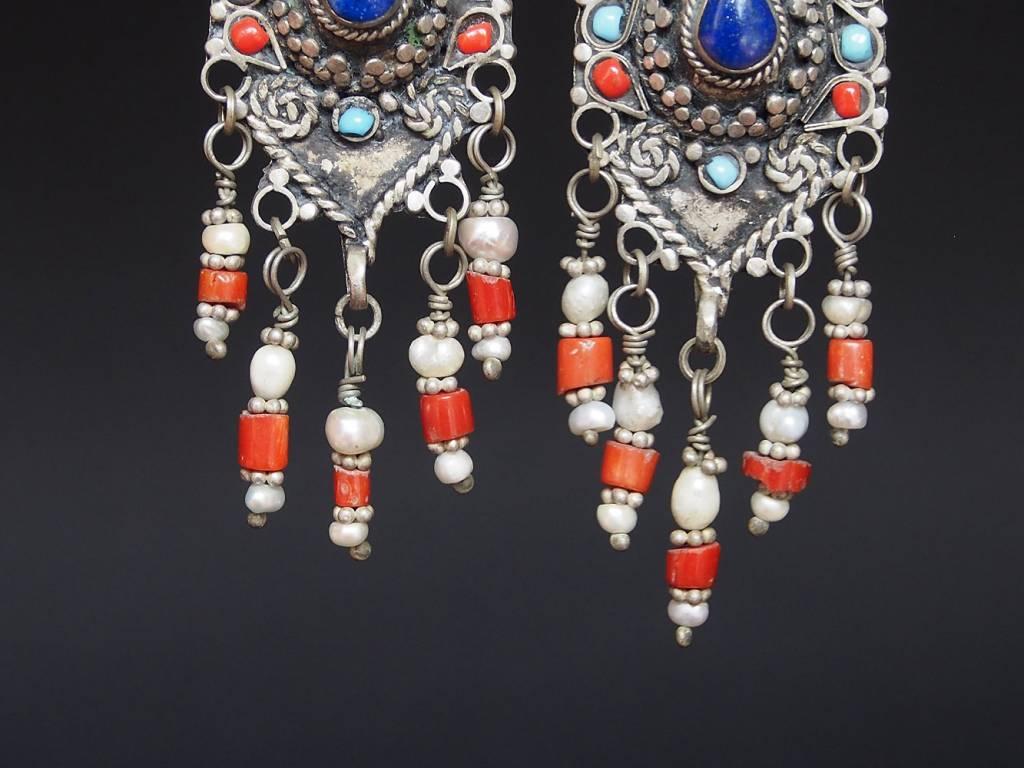 antik nomaden Silber Ohrringe Nr:18/ 37