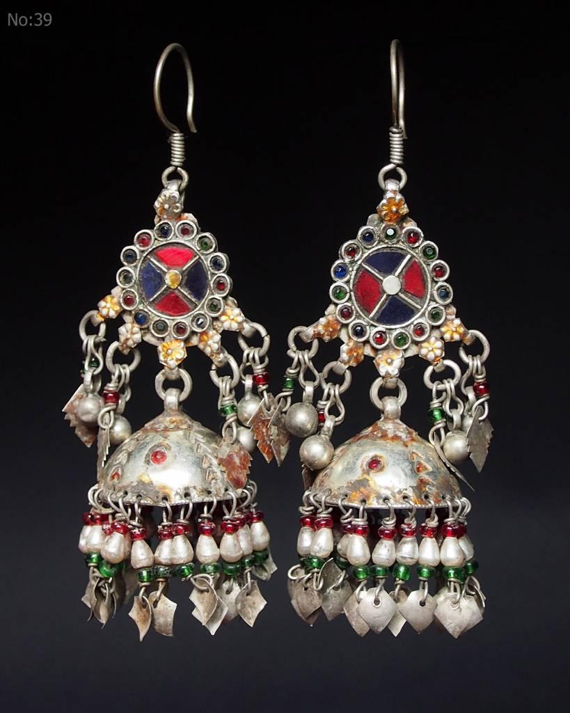 antik nomaden Silber Ohrringe Nr:18/39