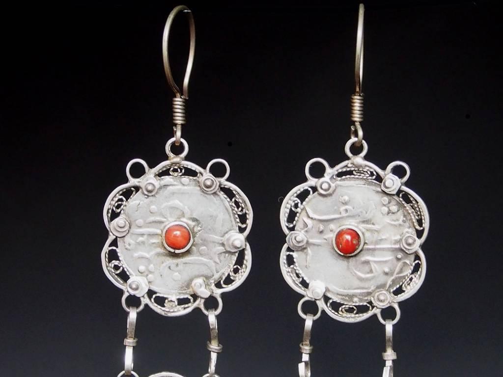 antik nomaden Silber Ohrringe Nr:18/ 40
