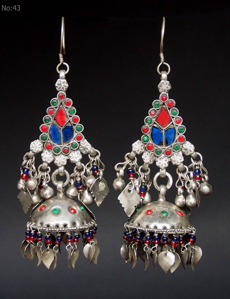 antik nomaden Silber Ohrringe Nr:18/ 43