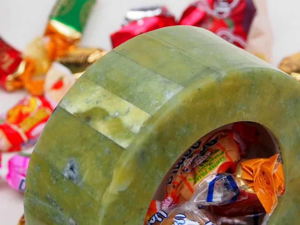 echt Serpentinstein Schmuck Dose schatulle Gefäß Dose Büchse deckeldose Süßigkeiten dose Serpentin Shah Maghsoud Grün Jade aus Afghanistan