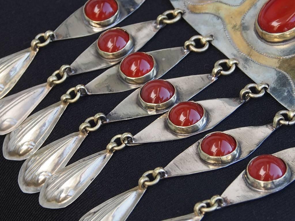 Ethnic Turkmen tribal Nickel silver  necklace Kette Nr:18/1