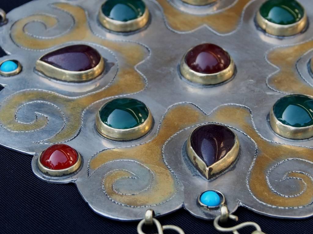 Ethnic Turkmen tribal Nickel silver  necklace Kette Nr:18/3