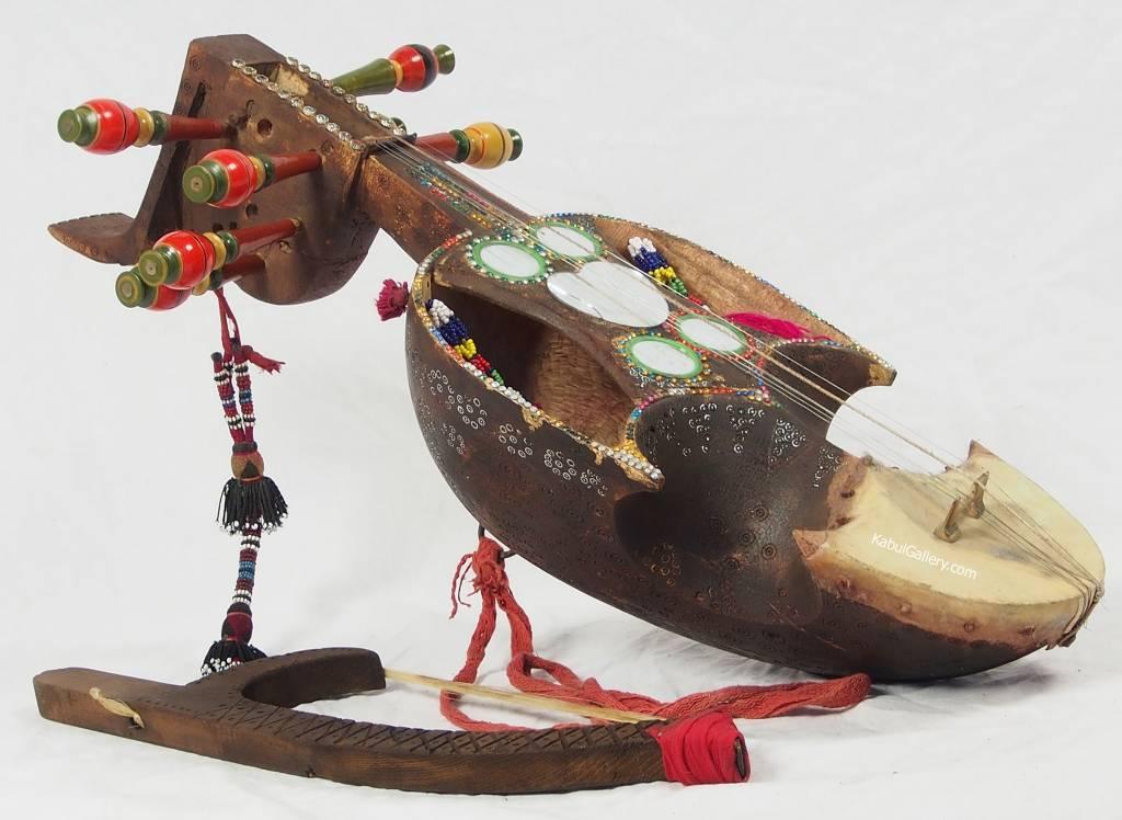 exotic musical instrument India Belutschistan afghanistan and pakistan Sarinda Ghichak 18/2