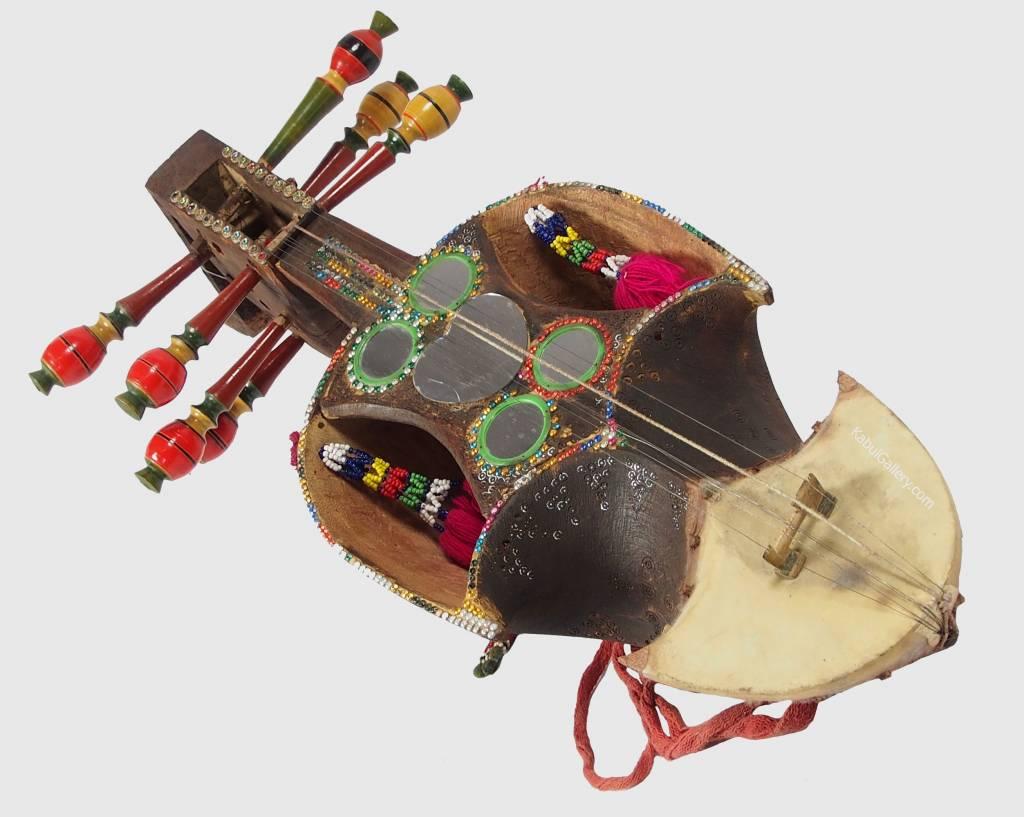 Antik Afghan musikinstrumen Ghichak 18/2