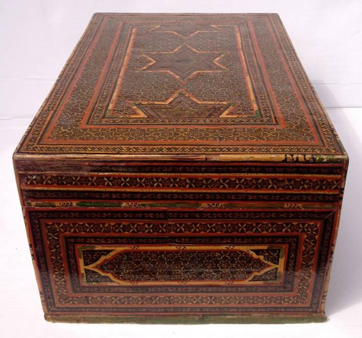 Antik islamische Khatamkari Kiste Truhe Box Nr: C