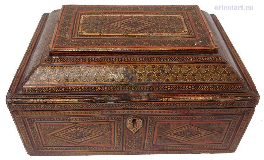 Antik islamische Khatamkari Kiste Truhe Box Nr: A