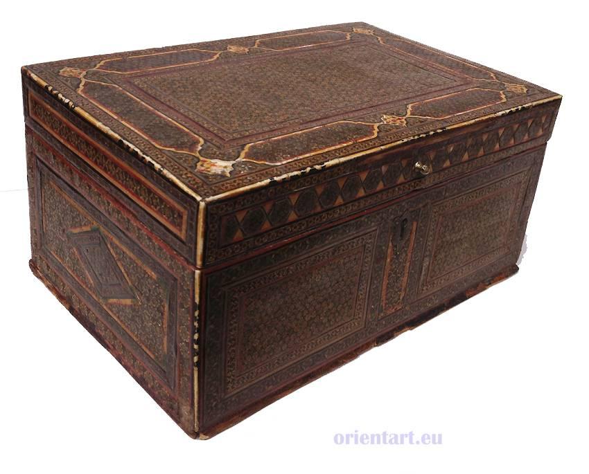 Antik persische Khatamkari Kiste Truhe Box Nr: B