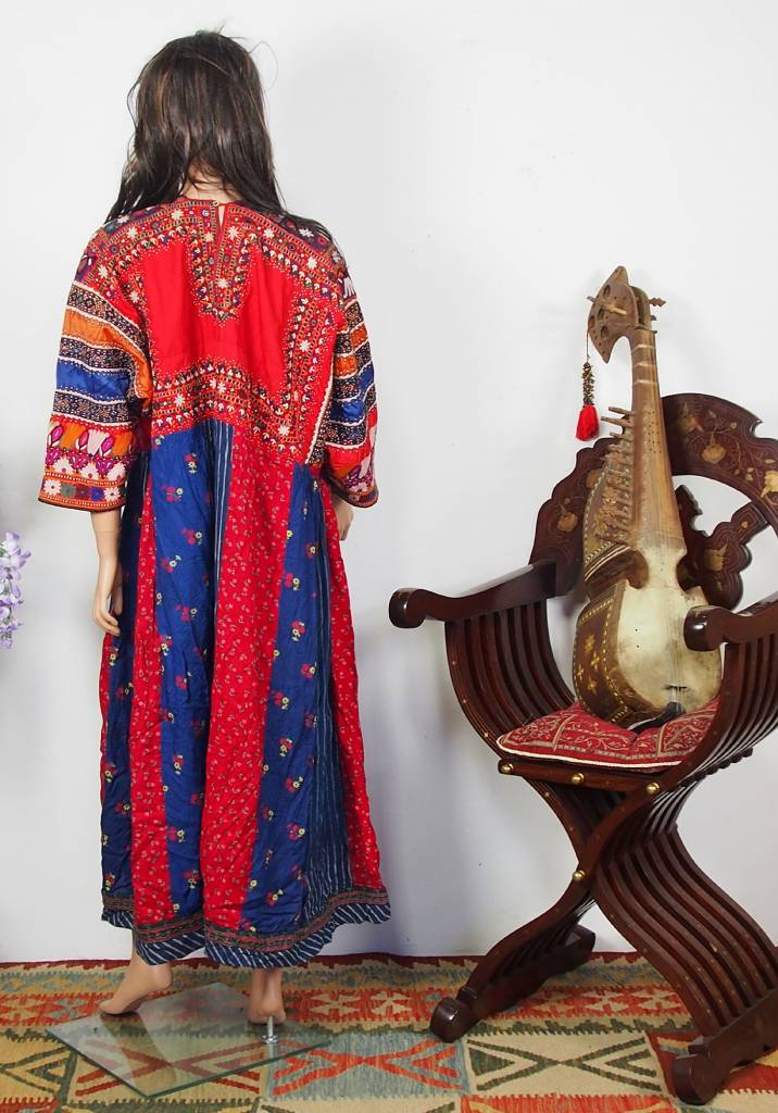 antique Banjara Woman's embroidered Dress Sindh Pakistan18/ A