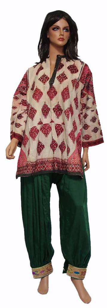 antique Woman's girl embroidered Dress from swat valley pakistan16/1