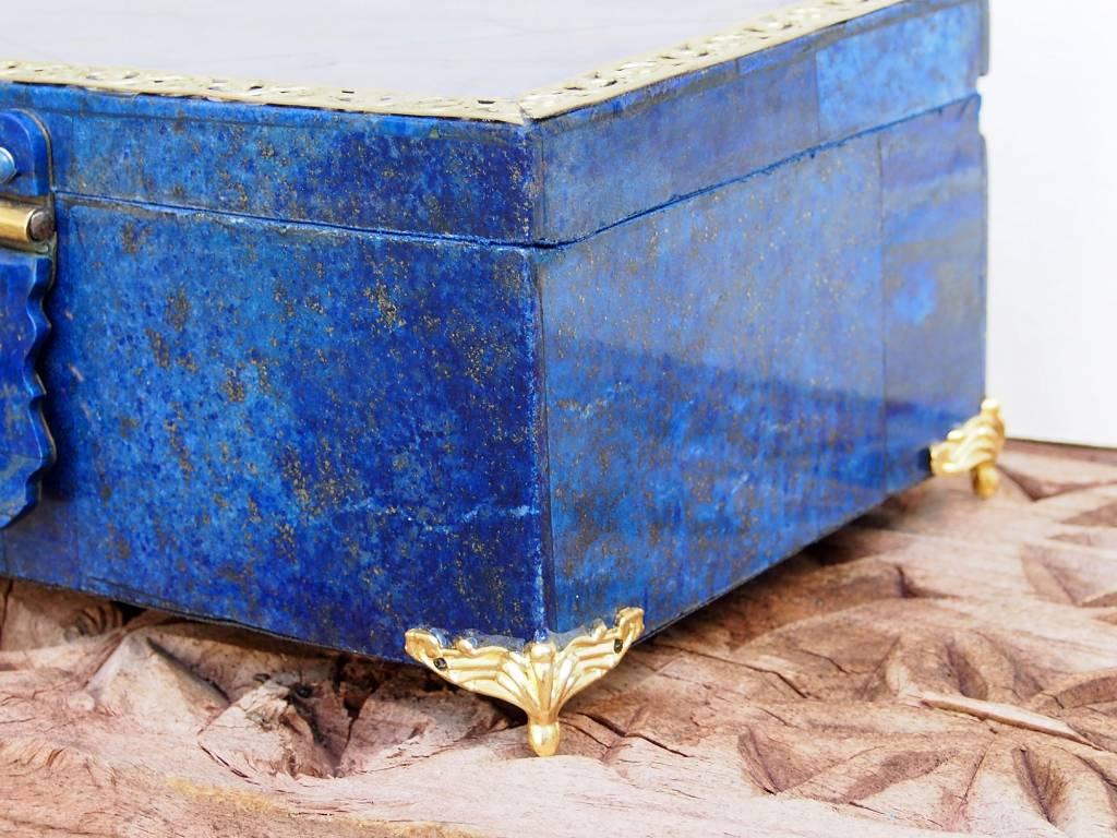 Extravagant Royal blau echt Lapis lazuli Schmuckkiste  aus Afghanistan Nr-18/E