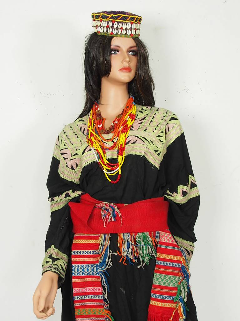 antique  Woman's embroidered Dress kalash chitral  Pakistan No:3