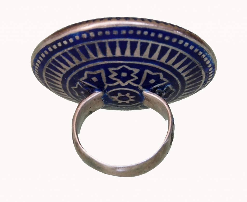 antique Multan enamelled Ring 18/B