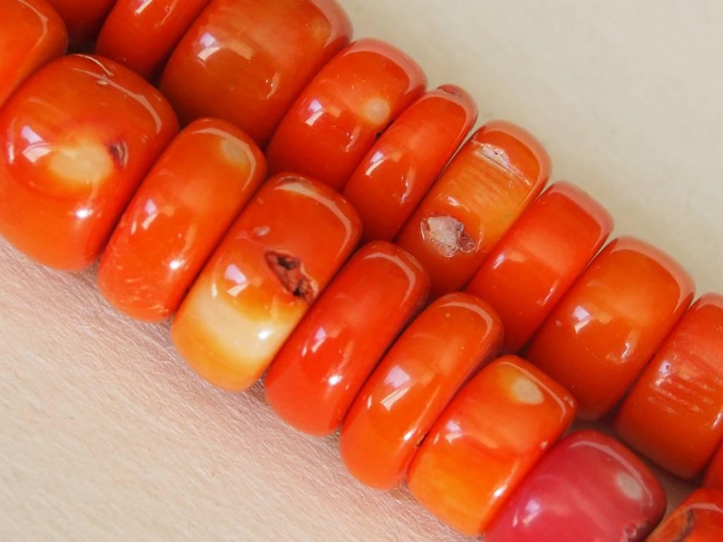 Korallen Kette Bambuskoralle und turkmenische Silber vergoldete perlen Nr:9/1