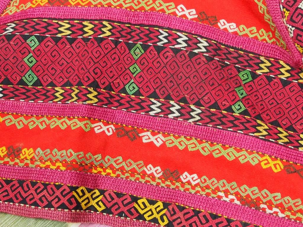 antique Karakalpak kiymeshek woman's head dress Usbekistan ikat 18/15