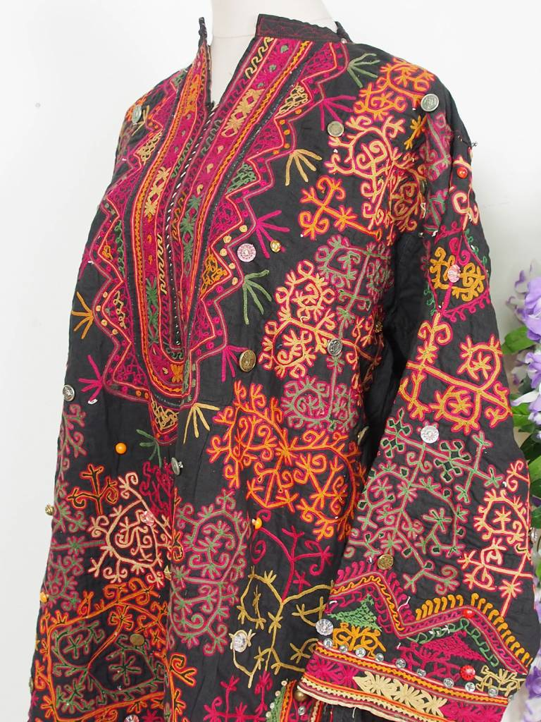 antique Woman's girl embroidered Dress from swat valley pakistan No:38