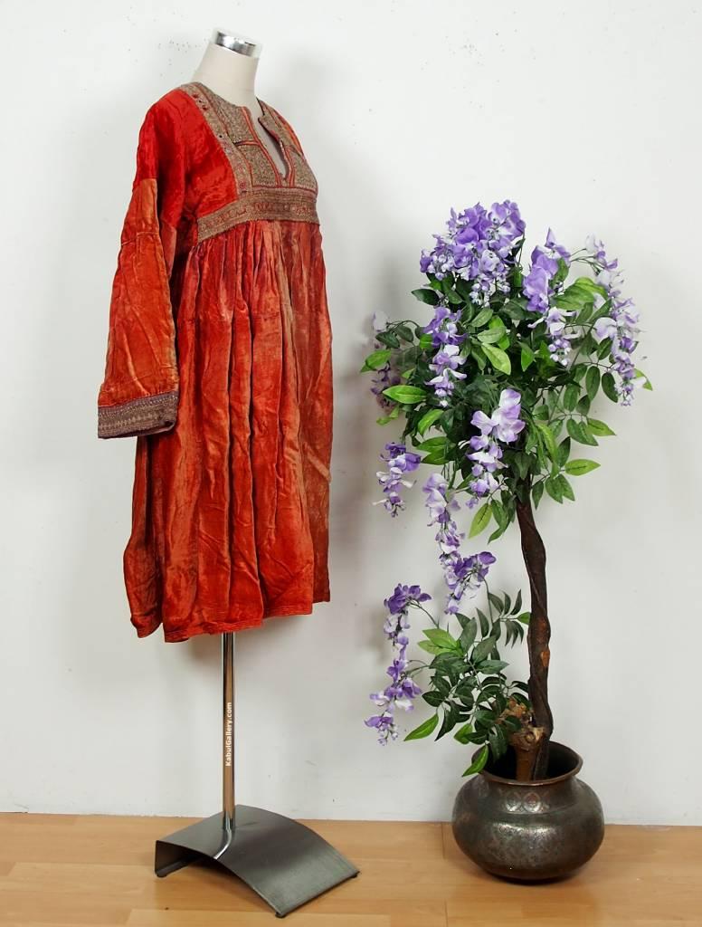 antik Orient Nomaden samt Tracht afghan kleid Tribaldance afghanistan dress Nr: -36