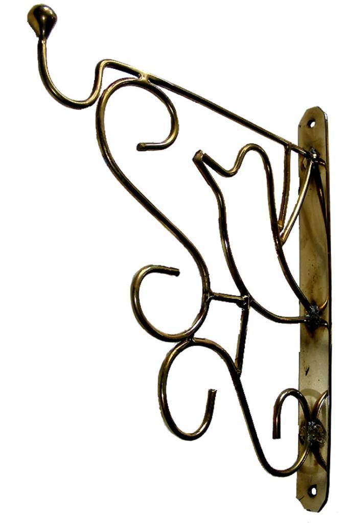 Haken Wandhalterung Blumenampel Wandhaken für Hanging Baskets Laterne Messing
