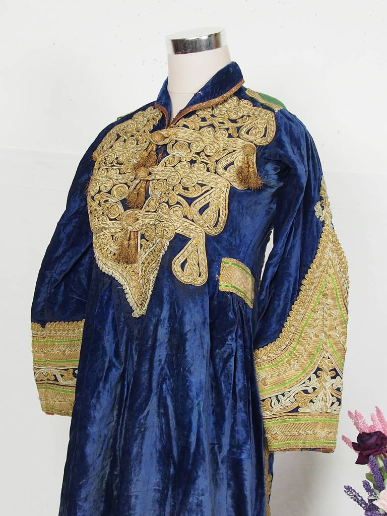 antique  Afghanistan  Hazara Woman  velvet  Dress