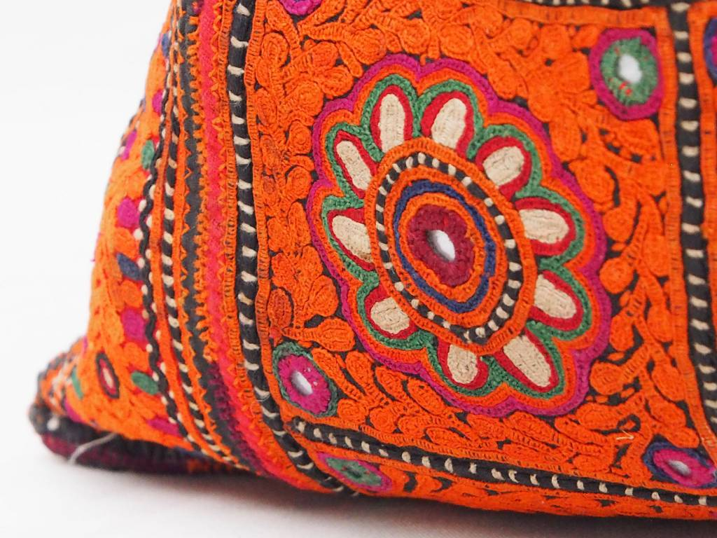 antique Multicolored Cotton Bag Vintage Sindhi Embroidery Antik Banjara Tasche A