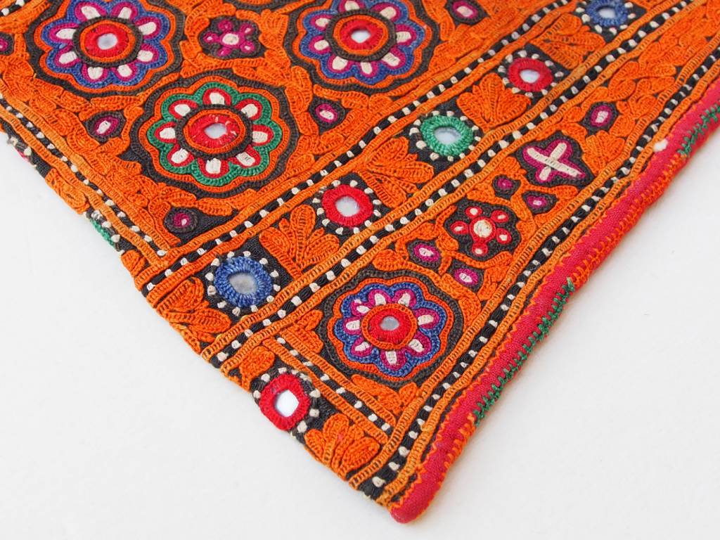 antique Multicolored Cotton Bag Vintage Sindhi Embroidery Antik Banjara Tasche  Nr:B