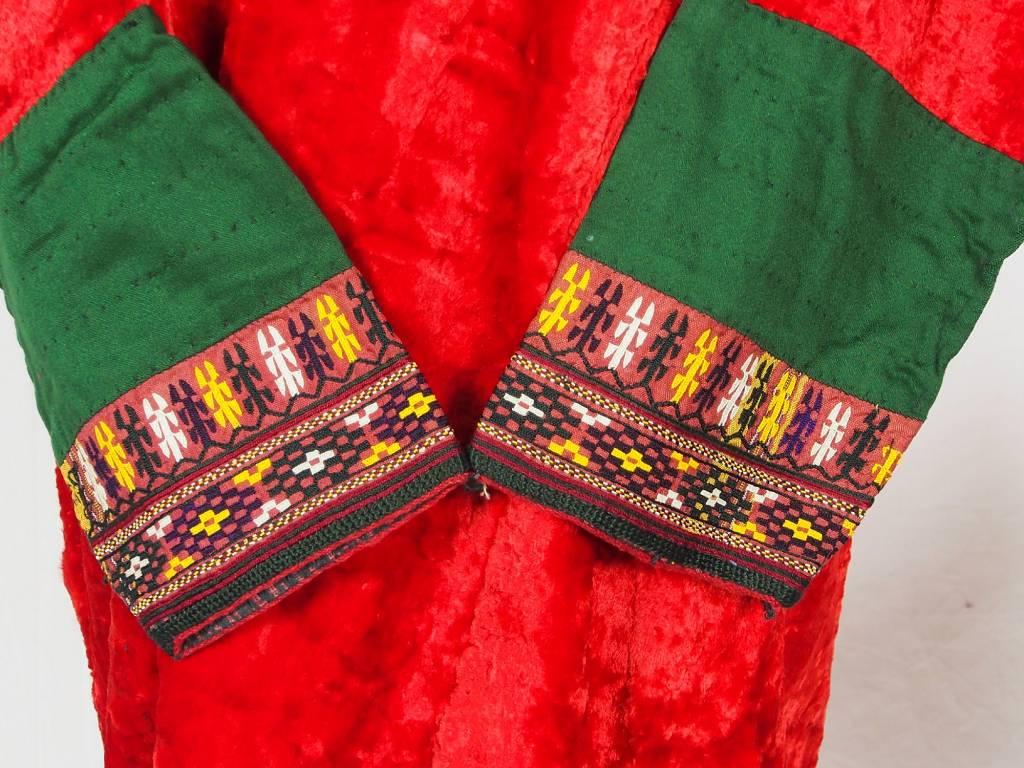 Turkmen antique velvet Chapan  coat Chirpy samt Mantel khalat No:18/2