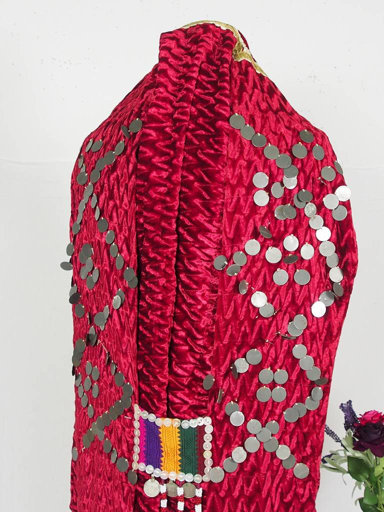 Turkmen antique velvet Chapan  coat Chirpy samt Mantel khalat Burqua No:18/3