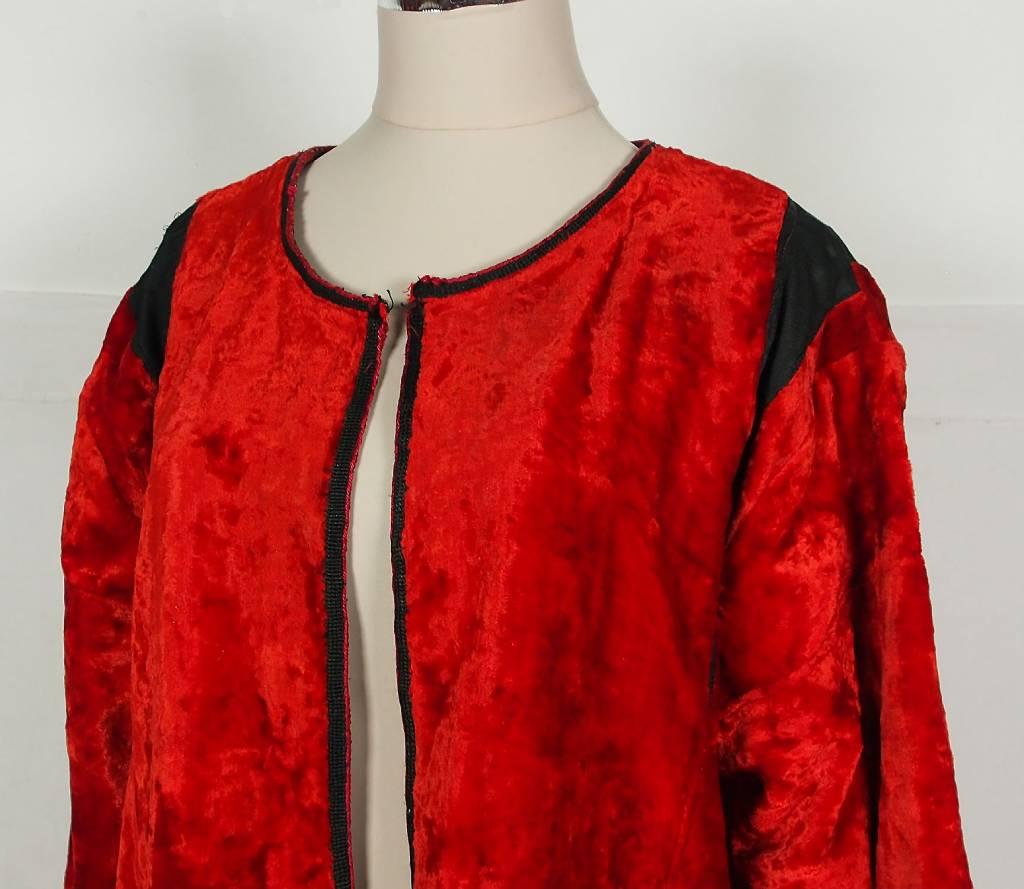 Turkmen antique velvet Chapan  coat Chirpy samt Mantel khalat Jacke No:18/5