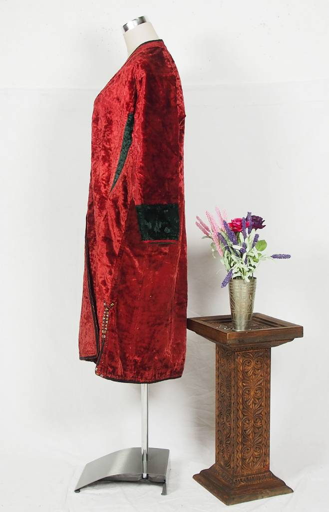 Turkmen antique velvet Chapan  coat Chirpy samt Mantel khalat No:18/7