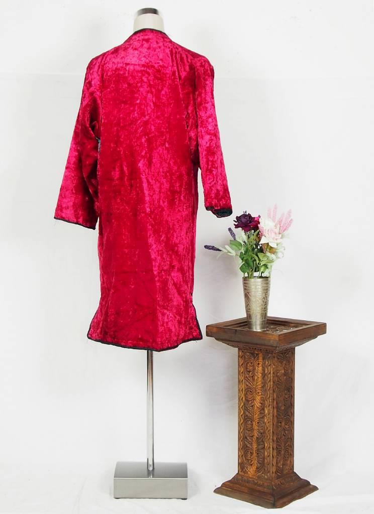 Turkmen antique velvet Chapan  coat Chirpy samt Mantel khalat No:18/10