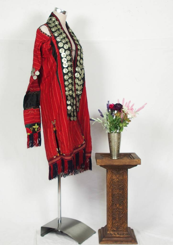 Turkmen antique silk Chapan  coat Chirpy Mantel khalat No:18/9