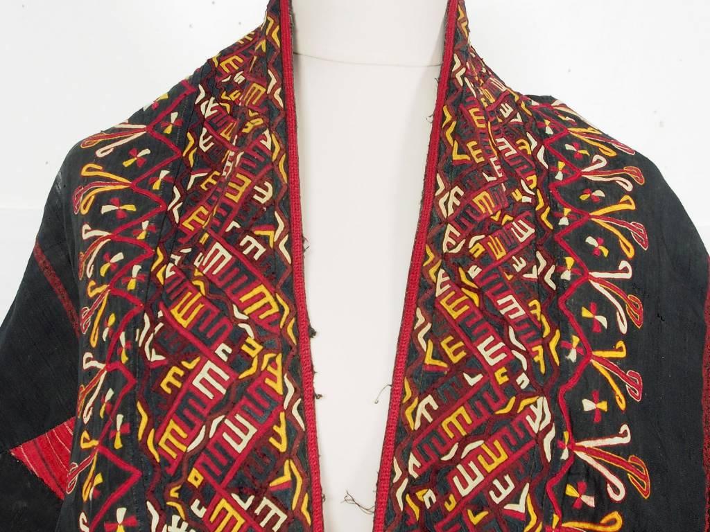 Tekke  Turkmen antique silk Chapan  coat Chirpy Mantel khalat No:18/12
