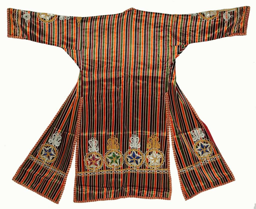 Turkmen  silk Chapan  coat Chirpy Mantel khalat No:18/14