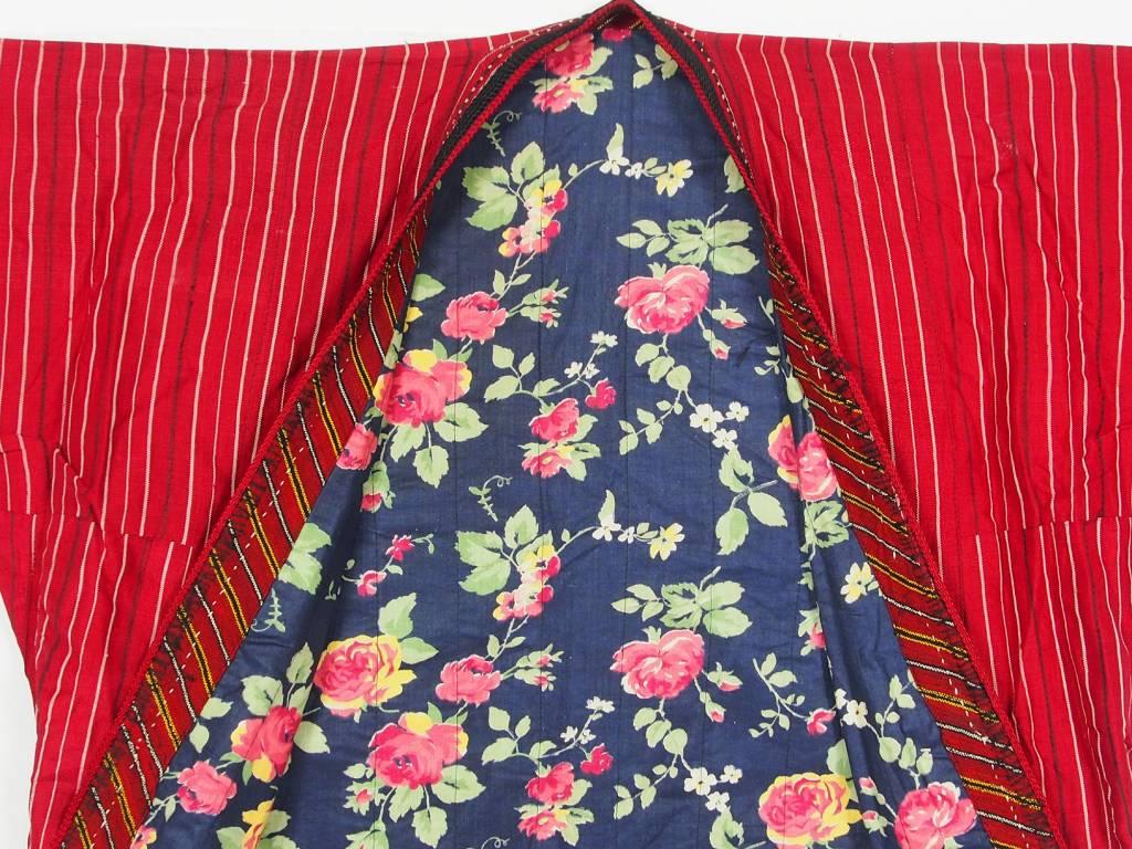 Turkmen antique silk Chapan  coat Chirpy Mantel khalat No:18/  15