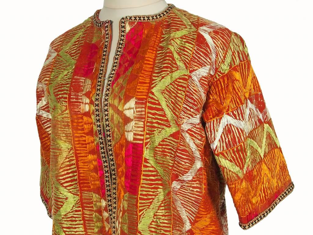 Afghan antique silk Chapan  coat Chirpy Mantel khalat No:18/17
