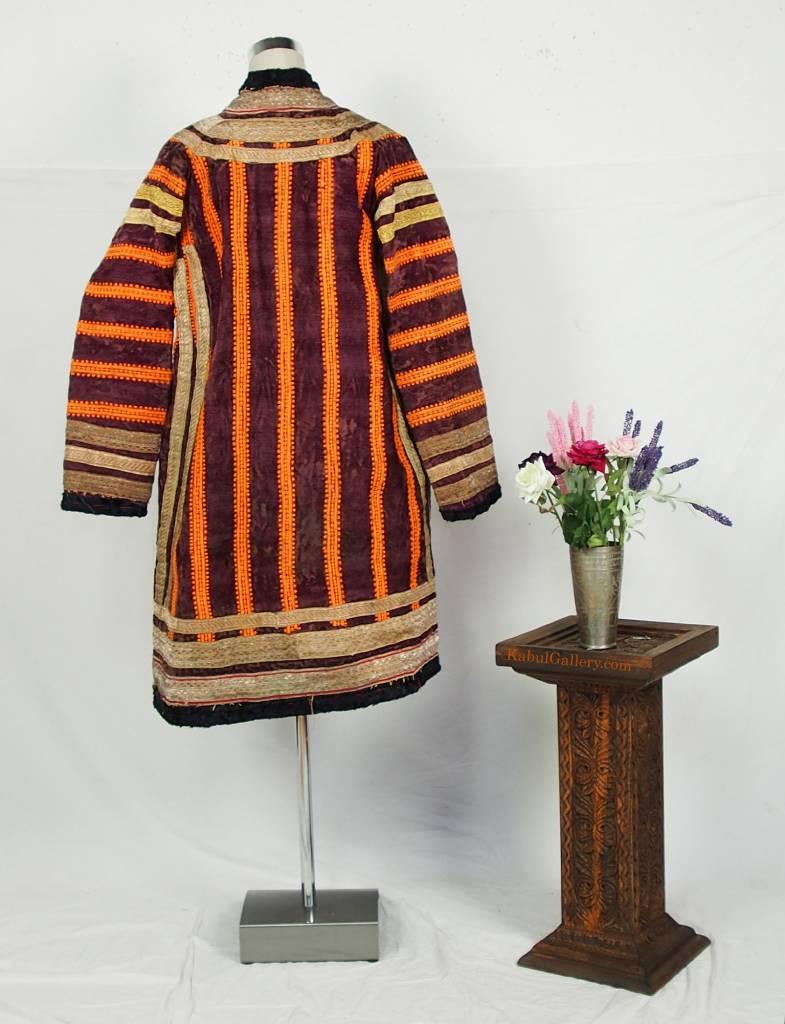 Turkmen antique silk Chapan  coat Chirpy Mantel khalat No:18/23