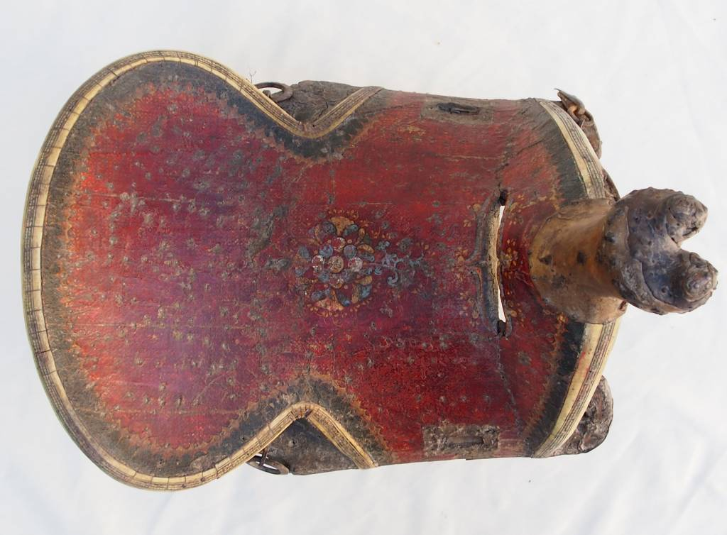 Antique islamic turkmen ottoman wooden painted horse saddle pferde Sattel Nr:18/A