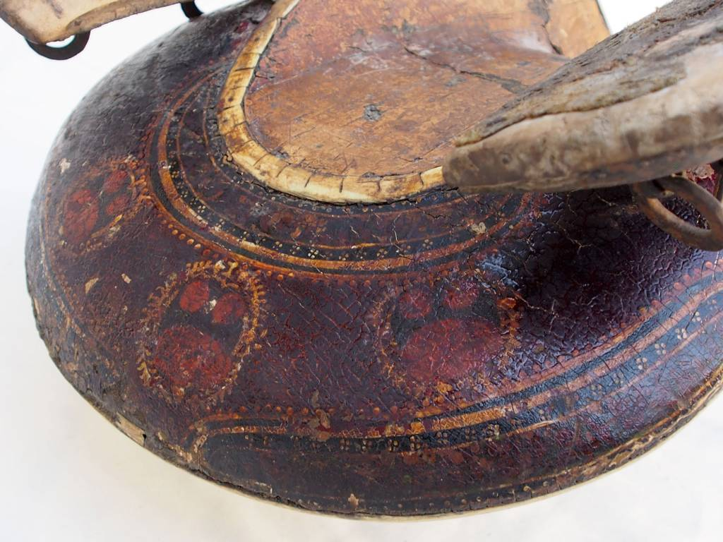 Antique islamic turkmen ottoman wooden painted horse saddle pferde Sattel Nr:18/C