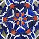 120x60 cm Marmor authentic Lapis Lazuli Pietra Dura Couchtisch Tisch Florentiner Mosaik Intarsienarbeit wohnzimmertisch Afghanistan (Lapis)