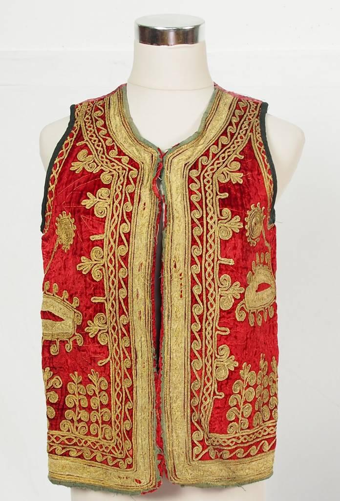 antique  Afghanistan  Hazara Woman  velvet  vest