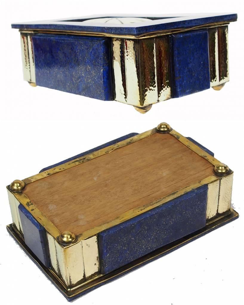 Extravagant Royal blau echt Lapis lazuli Schmuckkiste    Nr-18/1