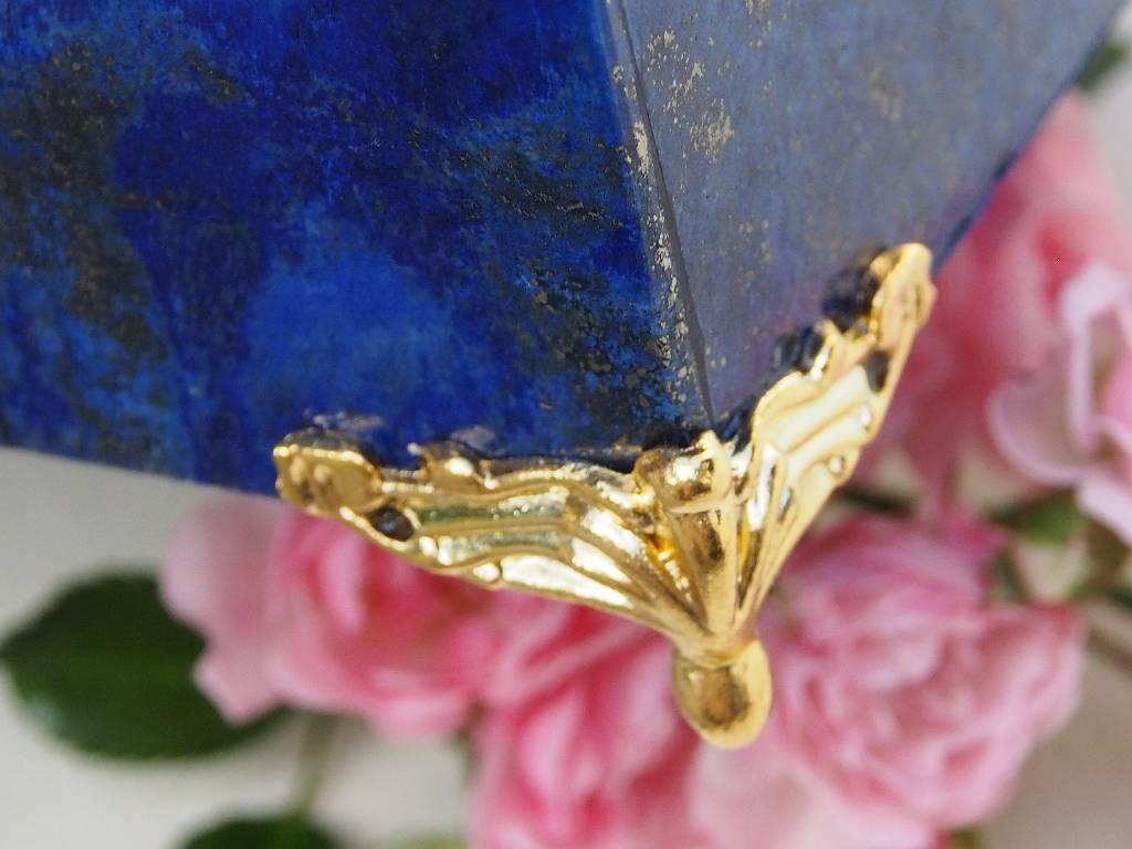 Extravagant Royal blau echt Lapis lazuli Schmuckkiste   aus Afghanistan Löwe Nr-18/5
