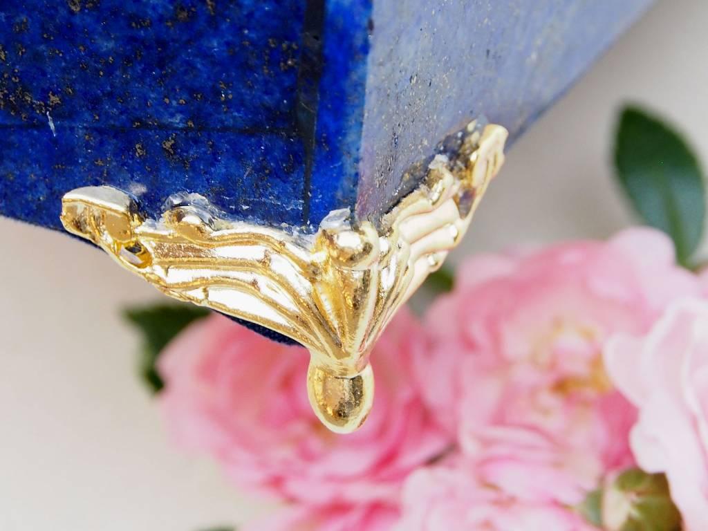 Extravagant Royal blau echt Lapis lazuli Schmuckkiste    aus Afghanistan Löwe Nr-18/7